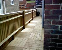 close board and decking tiles