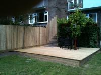 decking built around slabs <br>