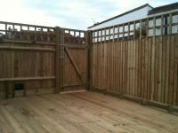 decking and close board with trellis<br>