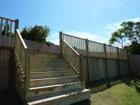 steps to raised decking<br>