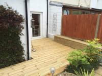 Decking, path & bench